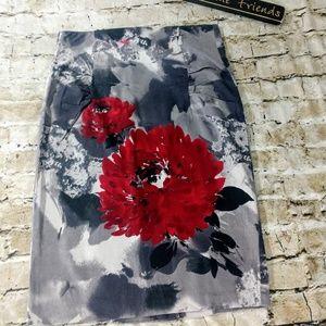 Bisou Bisou Floral Pencil Skirt size 14